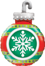 "Snowflake Ornament - Large Christmas Balloon (35"") 1pc"